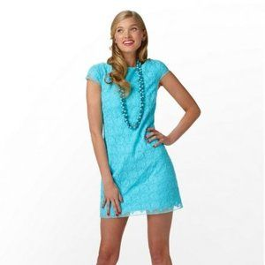 Lilly Pulitzer Jeanette Shorely Blue Dress NWT 14
